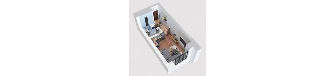 Последняя смарт квартира: 18,32 м2 - 13500 $