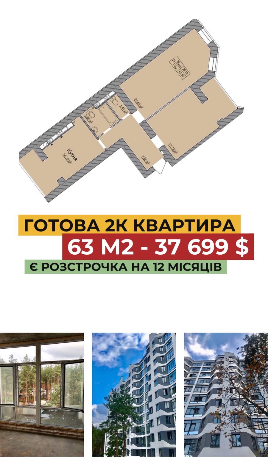 Готовая 2к квартира